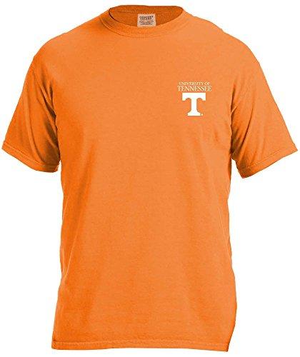 NCAA Tennessee Volunteers Simple Circle Comfort Color Short Sleeve T-Shirt, Orange,Small ()