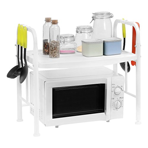 LANGRIA Microwave Oven Counter Shelf, Kitchen Organizer with - Kitchen Oven Microwave