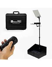 1 x Teleprompter-PAD iPresent PRO - Portatil Presidencial Compatible con iPad/Tablet y Monitor de PC para presentaciones y discurso en el escenario. Podium Prompter + Hardcase + Mando a distancia