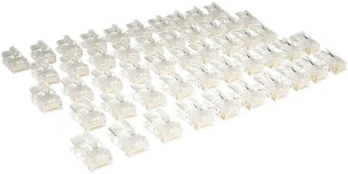color blanco Frutto rj45 UTP Cat.5e Toma modular de 8 pines para cables ethernet compatible con BTicino Matix AM5962C6 conexi/ón de engaste sin herramientas