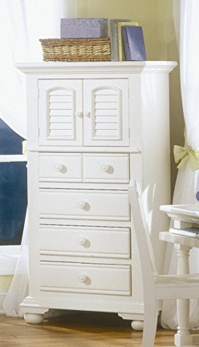(American Woodcrafters Cottage Traditions 4 Drawer Lingerie Chest in Eggshell White)