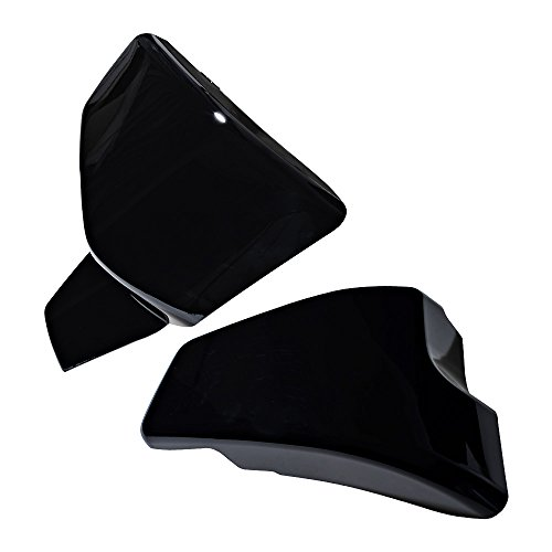 Set Battery Left & Right Cover For Honda Shadow VLX 600 1999-2008 VT 600 C CD Deluxe 1999-2007 (Glossy Black) by Anzio (Image #3)