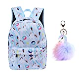 Unicorn Backpack Lightweight Kids School for Girls with Headbands or Keychain