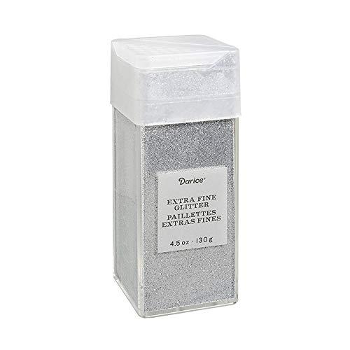 Darice 30029661 Extra Fine, Sparkling Silver, 4.5 Ounces Glitter,]()
