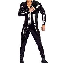 Men Latex Catsuit Bondage Bodysuit Unitard Fetish Costumes Erotic Lingerie
