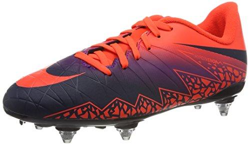 Nike 768906-845, Botas De Fútbol para Niños Naranja (Total Crimson / Obsidian-Vivid Purple)
