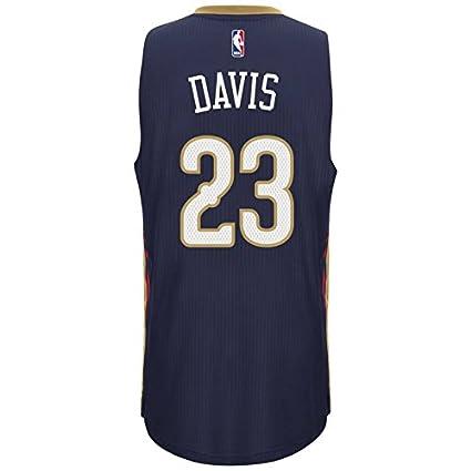 Amazon.com   Anthony Davis New Orleans Pelicans Adidas Swingman Navy ... 5c74e9c96