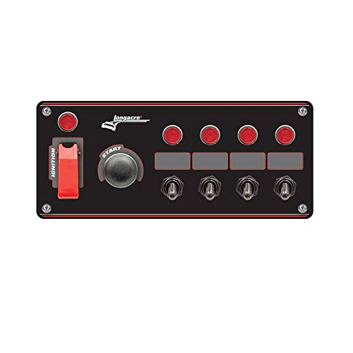- Longacre 52-44869 Ignition Panel Black w/4 Acc. and Pilot Light