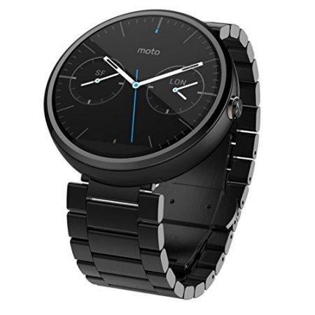 Motorola Moto 360 Smartwatch w/ 23mm Metal Band - Black (Certified Refurbished) by Motorola (Image #5)