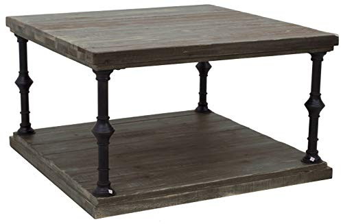 Ravenna Home Jessica Rustic Open Storage Side End Table, 31.5
