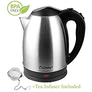 Tea Kettle Electric Water Pot – 1.7L Stainless Steel, Quick Boil, Cordless Hot Water Electric Tea Kettle with Auto Shut Off & Boil Dry Protection