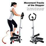 KUOKEL Mini Stepper,Fitness Stair Stepper, Portable Twist Stair Stepper Adjustable Resistance,Fitness Exercise Machine with Resistance Bands Durable & LCD Display and Comfortable Foot Pedals