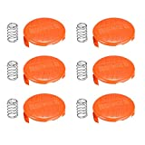 Pukido 6pcs Grass Trimmer Spool Cap Cover For Black And Decker NST2018 NST1118 NST2118