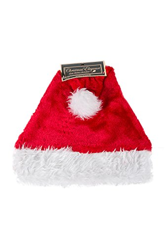 - Christmas Red and White Santa Hat with Puff Ball