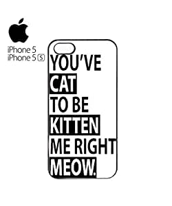 You've Cat To Be Kitten Me Funny Mobile Cell Phone Case Cover iPhone 5&5s Black