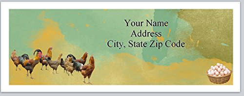 Chicken Labels Address (120 Personalized Return Address Labels Chickens Eggs Farm (bx 242))