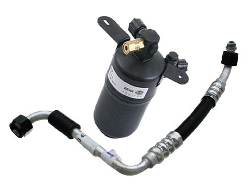 Reciever Drier (Mercedes w210 (93-03) AC Reciever Drier + Hose BEHR HELLA)