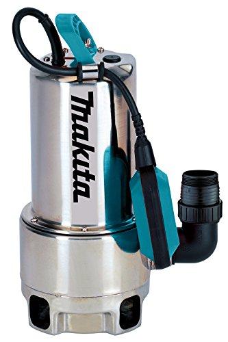 Makita PF1110 elektrische Tauchpumpe, Schmutzwasser bis 35 mm Partikelgröße, Edelstahl, 1100 W