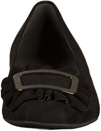 Negro Punta Mujer de Kaiser Cerrada 23243 Cuero de Zapatos Tacón con Peter qPAUpxp