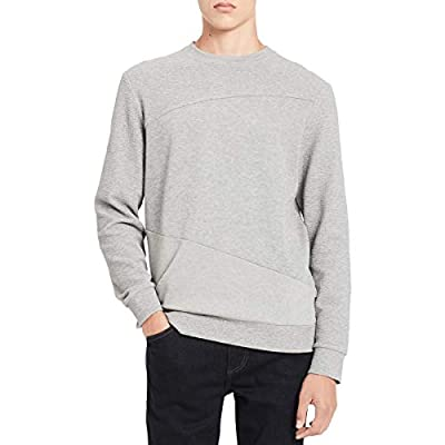 Calvin Klein Mens Textured Long Sleeve Sweatshirt
