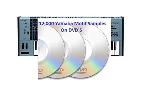 Yamaha Motif Es & Xs sound samples /Wav 2 DVD's 2 Sample Library Dvd