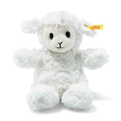 Steiff Stuffed Fuzzy Baby Lamb - Soft And Cuddly Plush Animal Toy - 8
