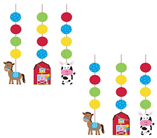 Farmhouse Fun Hanging Cutouts (6 (Farm Animals Hanging)