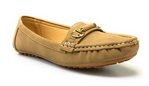 Comfortabele Slip-on Loafer-damesschoenen Van Dames, Teresa-2 Taupe