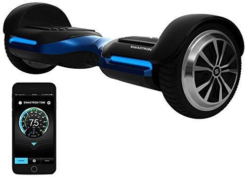 Swagtron App-Enabled T580 Bluetooth Hoverboard w/Speaker Smart Self-Balancing...