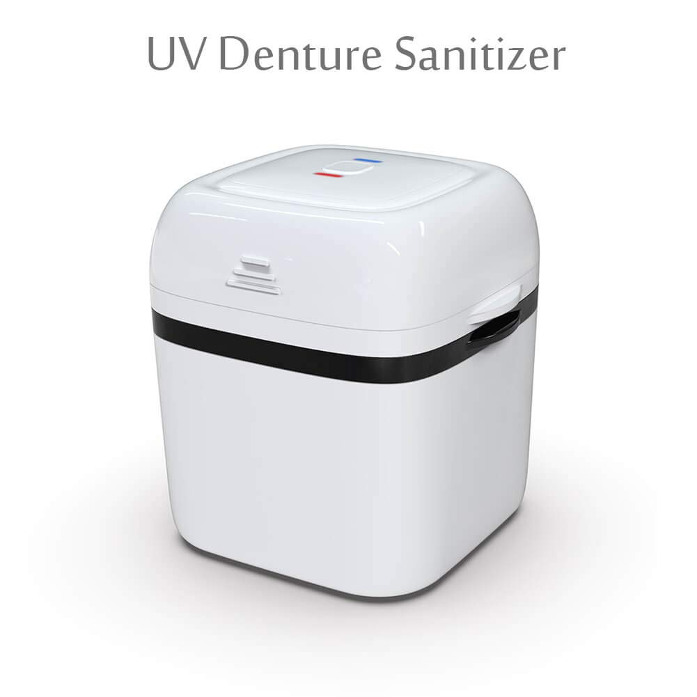 UV Dental Sanitizer, Portable UV Denture Cleaner for Denture, Mouth Guard, Invisalign, Retainer, Snore Guard Sleep Retainer, Multi-functional Denture Storage Box Case