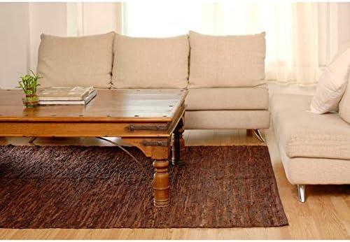 Matador Leather Chindi Handmade Rug