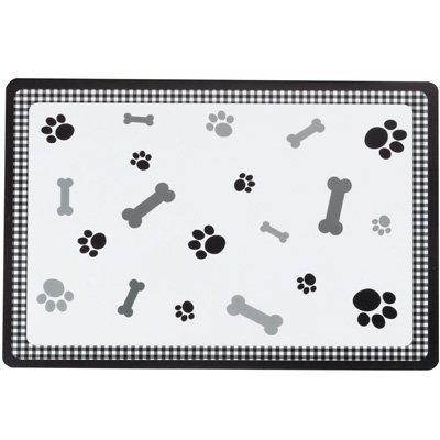 Petfood Tischset - Knochen und Pfoten (Schwarz)