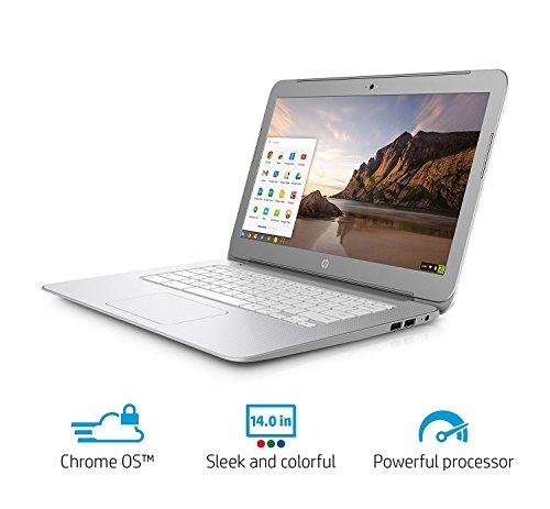 2017 Premium High Performance HP 14 inch Chromebook Full HD (1920 x1080) IPS display,Intel Celeron Quad-Core Processor,4GB RAM,16GB eMMC HDD,802.11AC WIFI HDMI Webcam Bluetooth Chrome OS, only 3.74Lb by HP (Image #3)