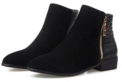 Caricamenti delle donne di autunno / inverno Scarpe da ginnastica ruvide Scarpe con cerniera a scoppio Scarpe singole delle scarpe da donna Zip 34-42 , 42
