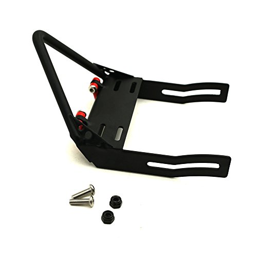 RC-FAST 1 Set Steel Front Bumper w/ Winch Mount Shackles for AXIAL SCX10 Black