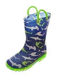 "Lilly Boys' ""Ocean Swim"" Light-Up Rain Boots"