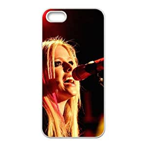 iPhone 5 5s Cell Phone Case White hb39 avril lavigne sing concert Uemdo