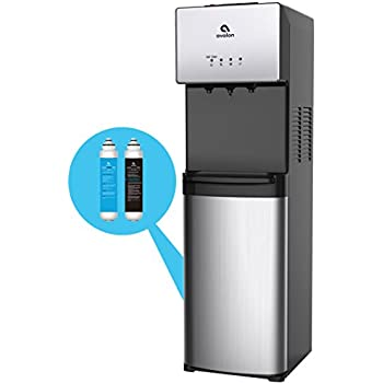 Avalon Self Cleaning Bottleless Water Cooler Water Dispenser - 3 Temperature Settings - Hot, Cold & Room Water, Durable Stainless Steel Cabinet, ...