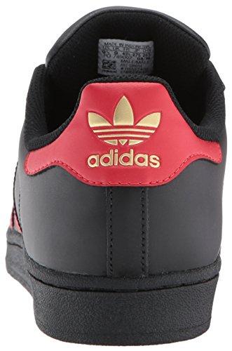 adidas Originals Herren Superstar Fashion Sneaker Cblack / Scarle / Goldm