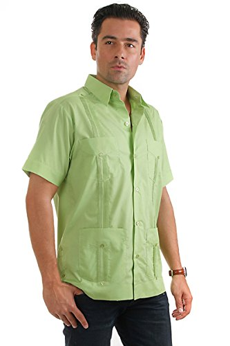Mojito Collection (Mojito Collection Cotton Guayabera (Small, Lime))
