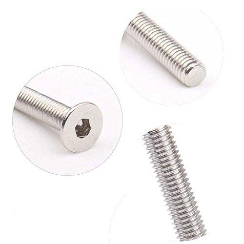 Iycorish M6 x 16 mm Metrico Hexagonal Tornillo de cabeza avellanada plana Tornillos 20PCS