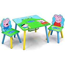 Delta Children Kids Table and Chair Set with Storage, Peppa Pig