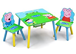 delta children table and chair set with storage peppa pig baby. Black Bedroom Furniture Sets. Home Design Ideas