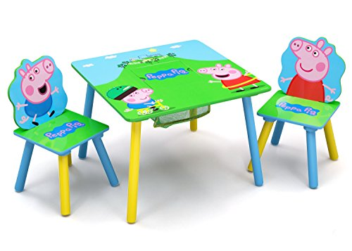 Delta Children Kids Chair Set and Table (2 Chairs Included), Peppa -