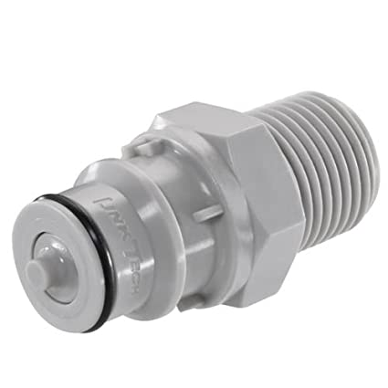 Sold in a package of 10 3//8 MNPT 60PP Series Male Thread Plug Valved 60PPV-PE1-06