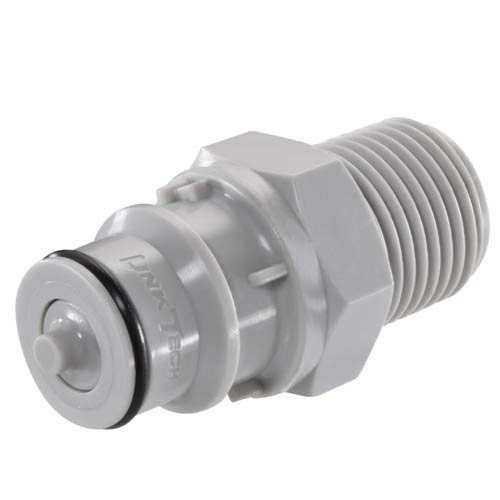60PP Series Male Thread Plug Sold in a package of 10 Valved 3//8 MNPT 60PPV-PE1-06