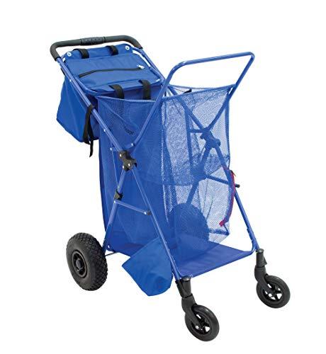 Rio Beach Wonder Wheeler Push Button Fold Beach Cart (Best Beach Buggy Cart)