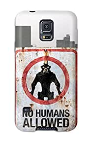 Best Premium No Humans Allowed Heavy-duty Protection Case For Galaxy S5 9928497K45429721