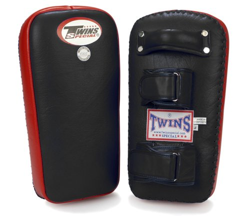 Twins Special Muay Thai Pad w/ Velcro (Black Red) (XL)