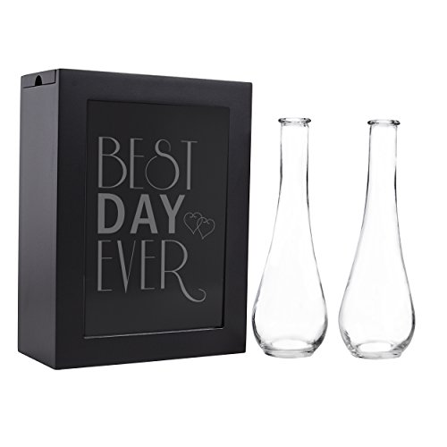(Cathy's Concepts Best Day Ever Unity Sand Ceremony Shadow Box Set, Black)